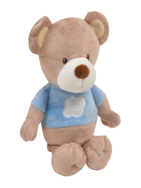 PELUCHE OURS 28CM LITTLE BEAR BLEU