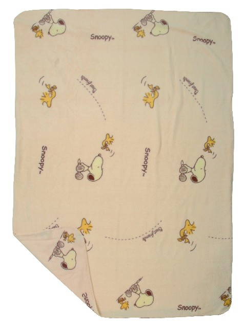 PLAID POLAIRE ALL OVER PRINT SNOOPY BEST FRIENDS