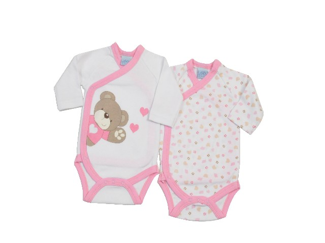 LOT DE 2 BODY BRASSIERE OURS LITTLE BEAR ROSE
