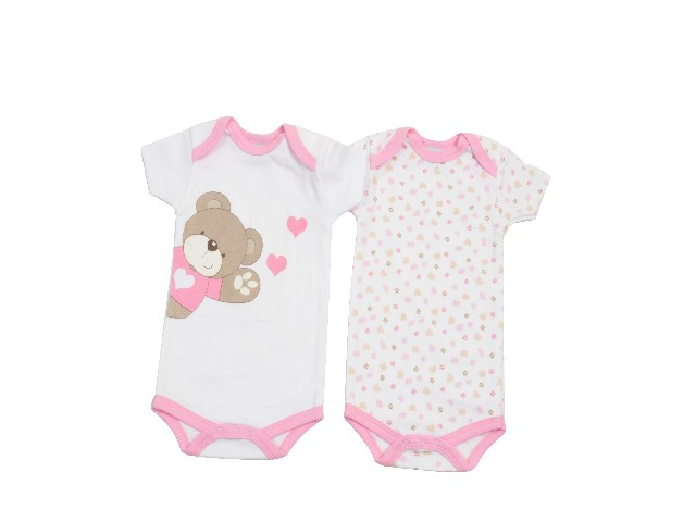LOT DE 2 BODY MC OURS LITTLE BEAR ROSE