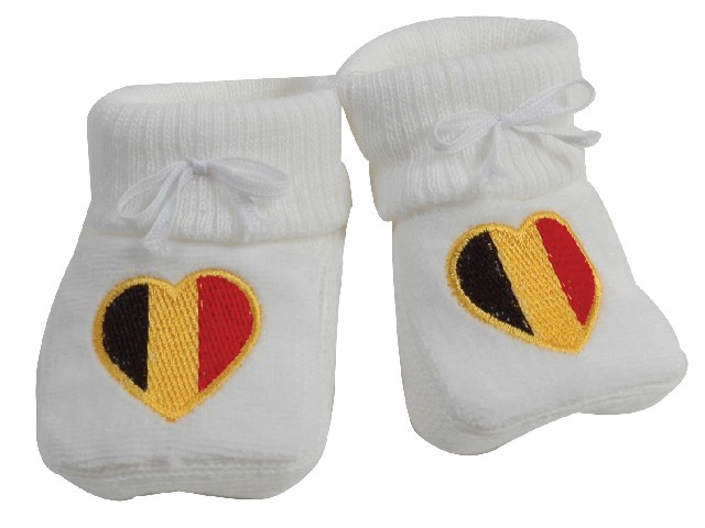 CHAUSSONS BRODE DRAPEAU BELGE